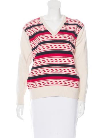 Yves Saint Laurent Angora & Wool-Blend Sweater None