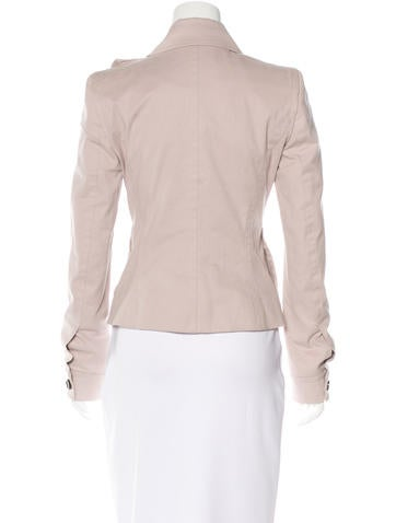 Ruffle-Accented Button-Up Jacket