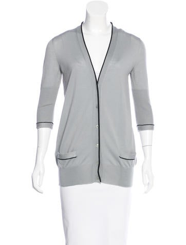 Yves Saint Laurent Knit Wool Cardigan None