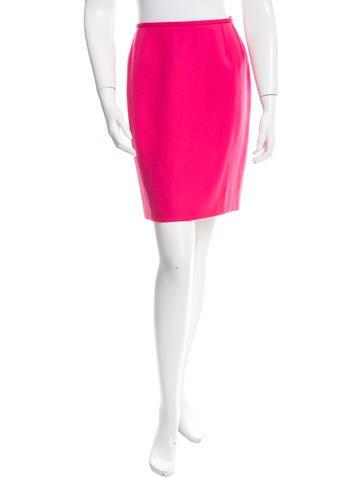 Yves Saint Laurent Wool Mini Skirt None