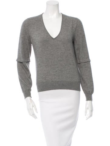 Yves Saint Laurent Knit V-Neck Sweater None