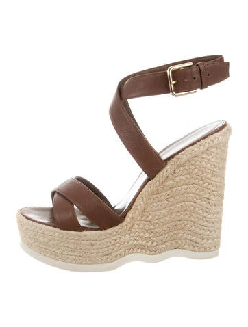 Yves Saint Laurent Platform Espadrille Wedges None