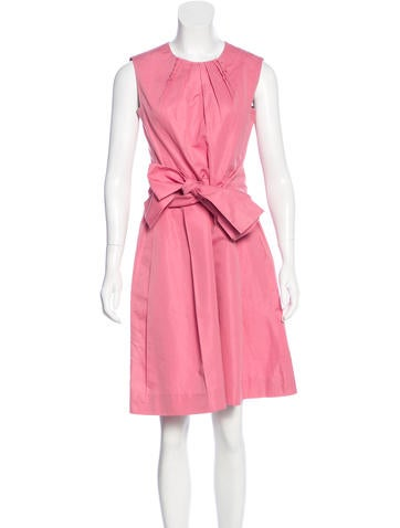 Yves Saint Laurent Belted Knee-Length Dress