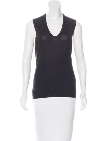 Yves Saint Laurent Sleeveless Knit Top None