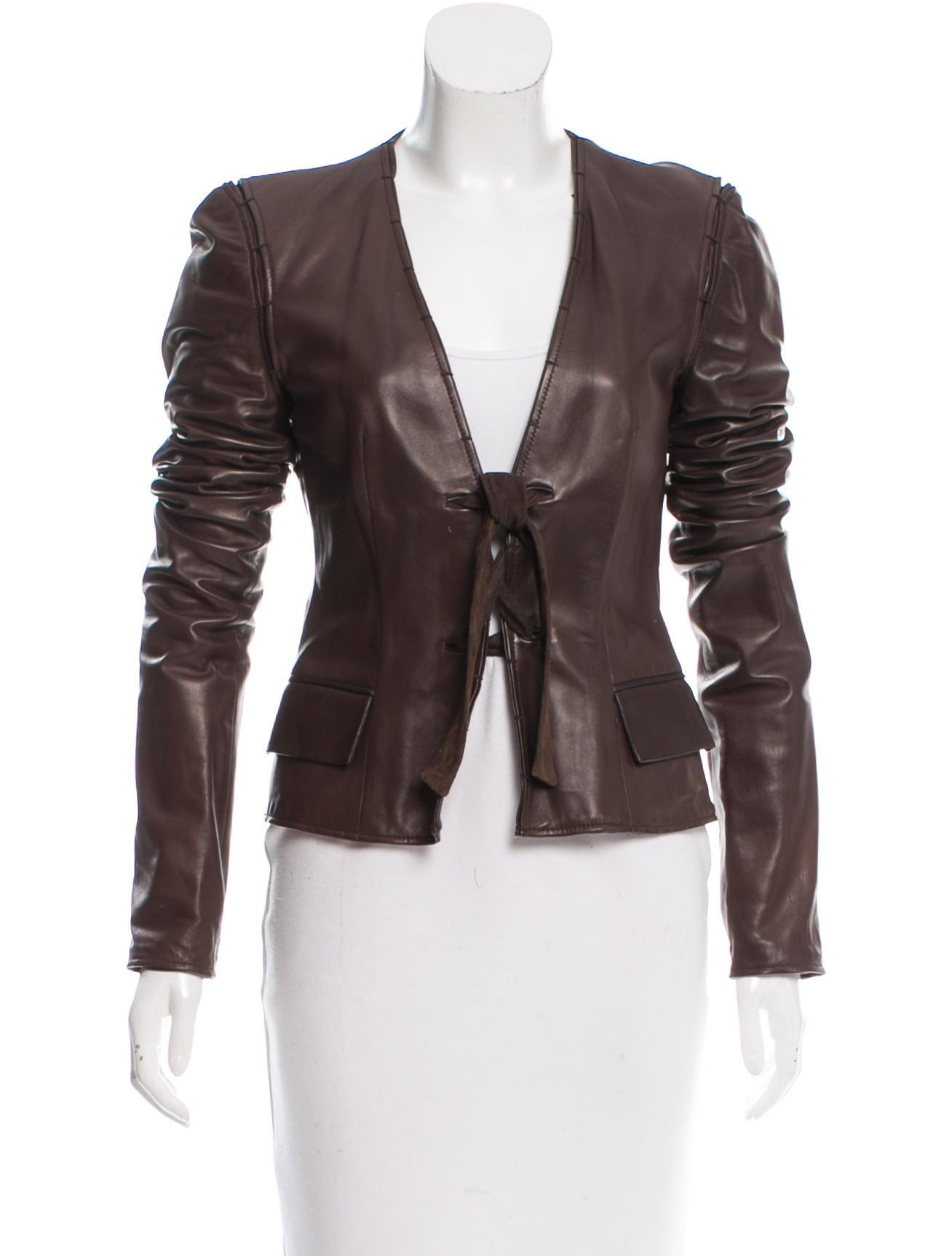 Yves saint laurent leather jacket