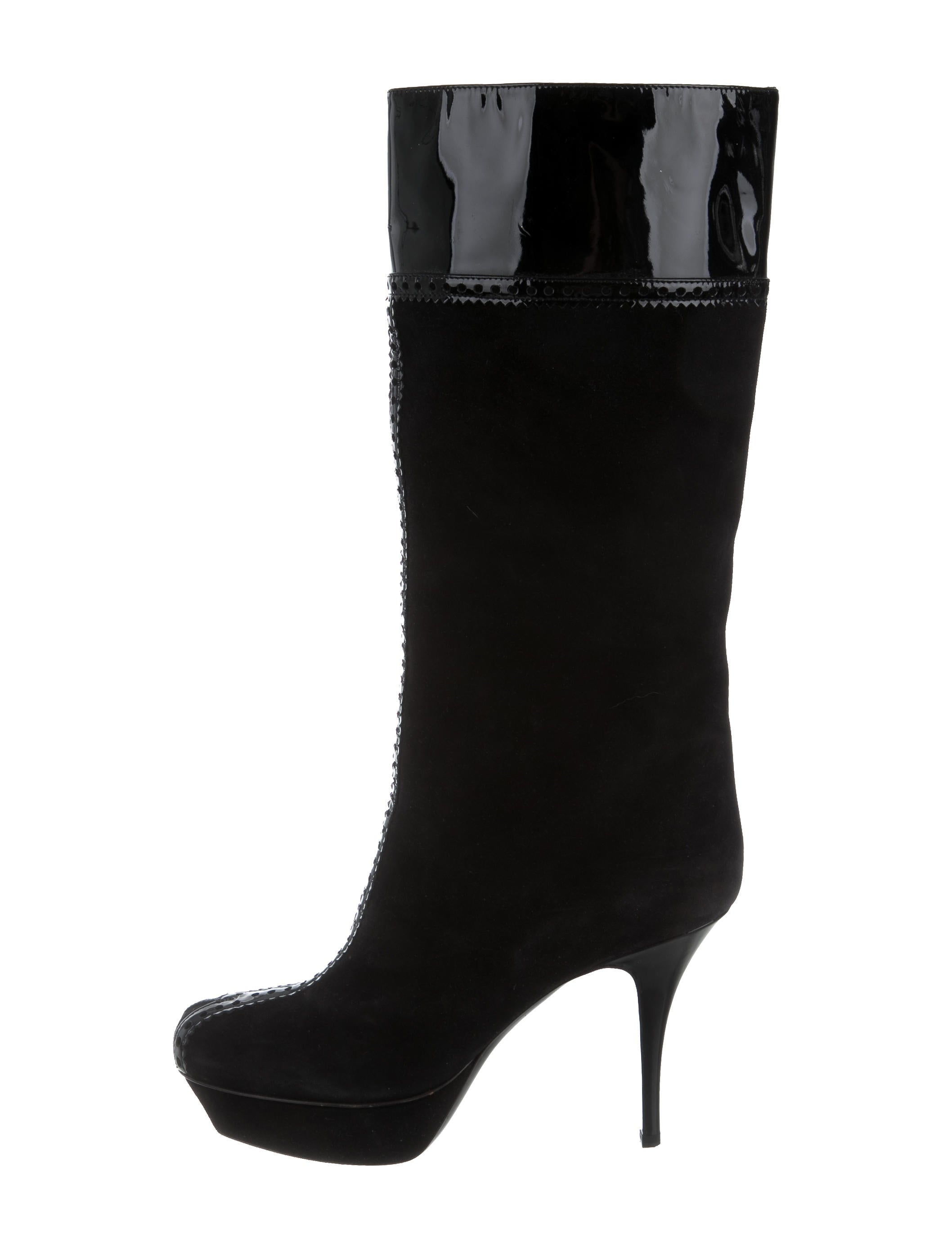 yves laurent suede platform boots shoes yve57585