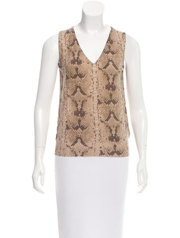 Yves Saint Laurent Snakeskin Print Wool Top w/ Tags None