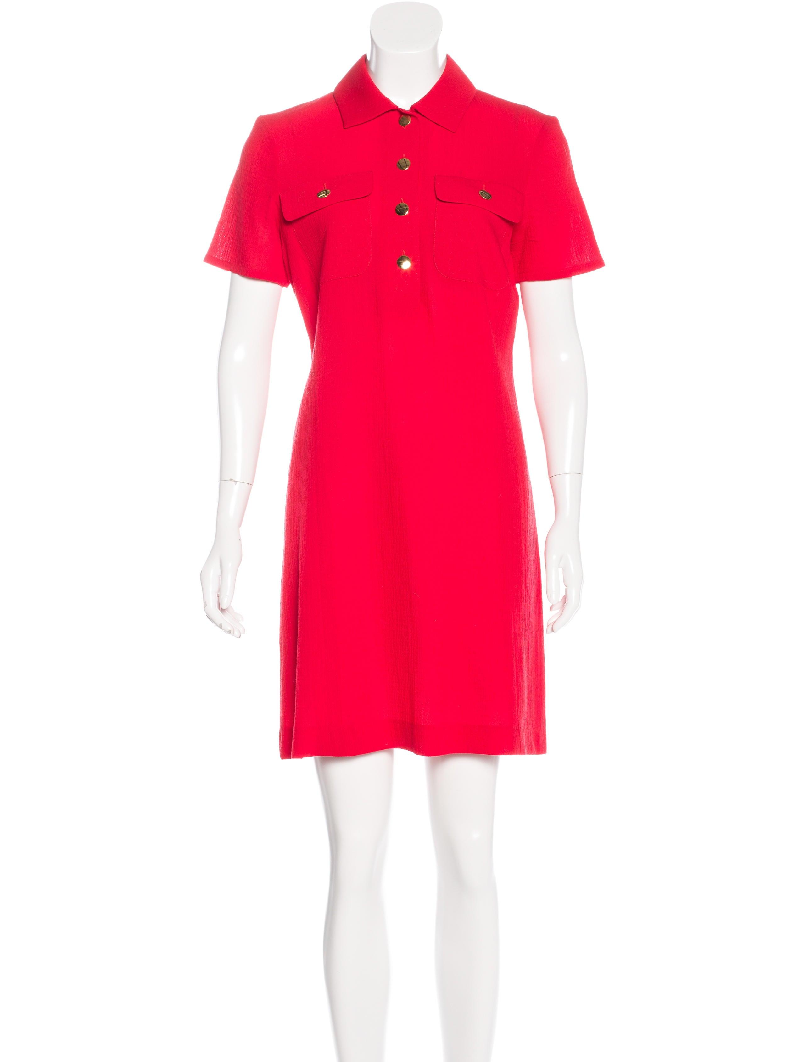 Yves saint laurent wool shirt dress clothing yve58252 for Saint laurent shirt womens