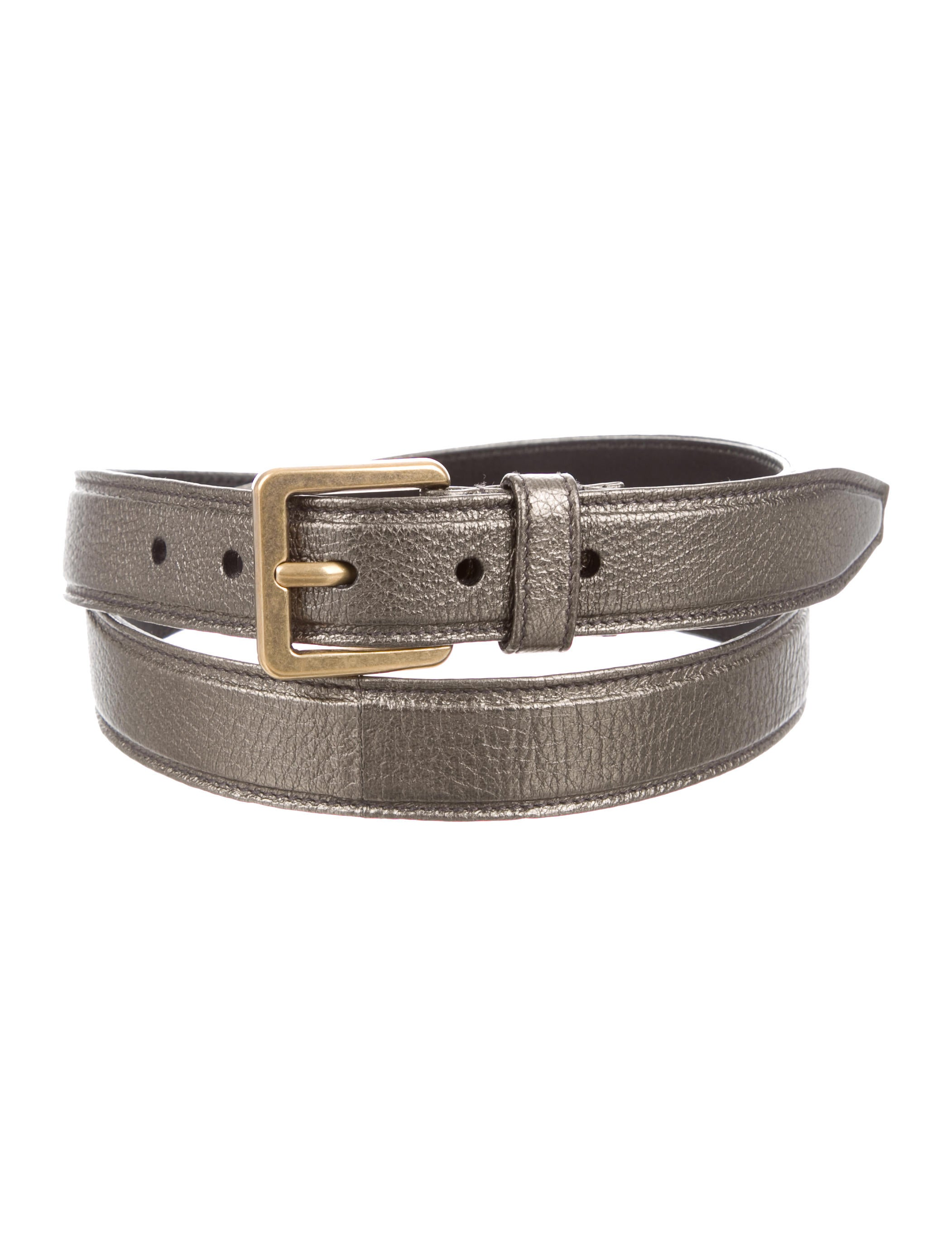 yves laurent metallic leather belt accessories