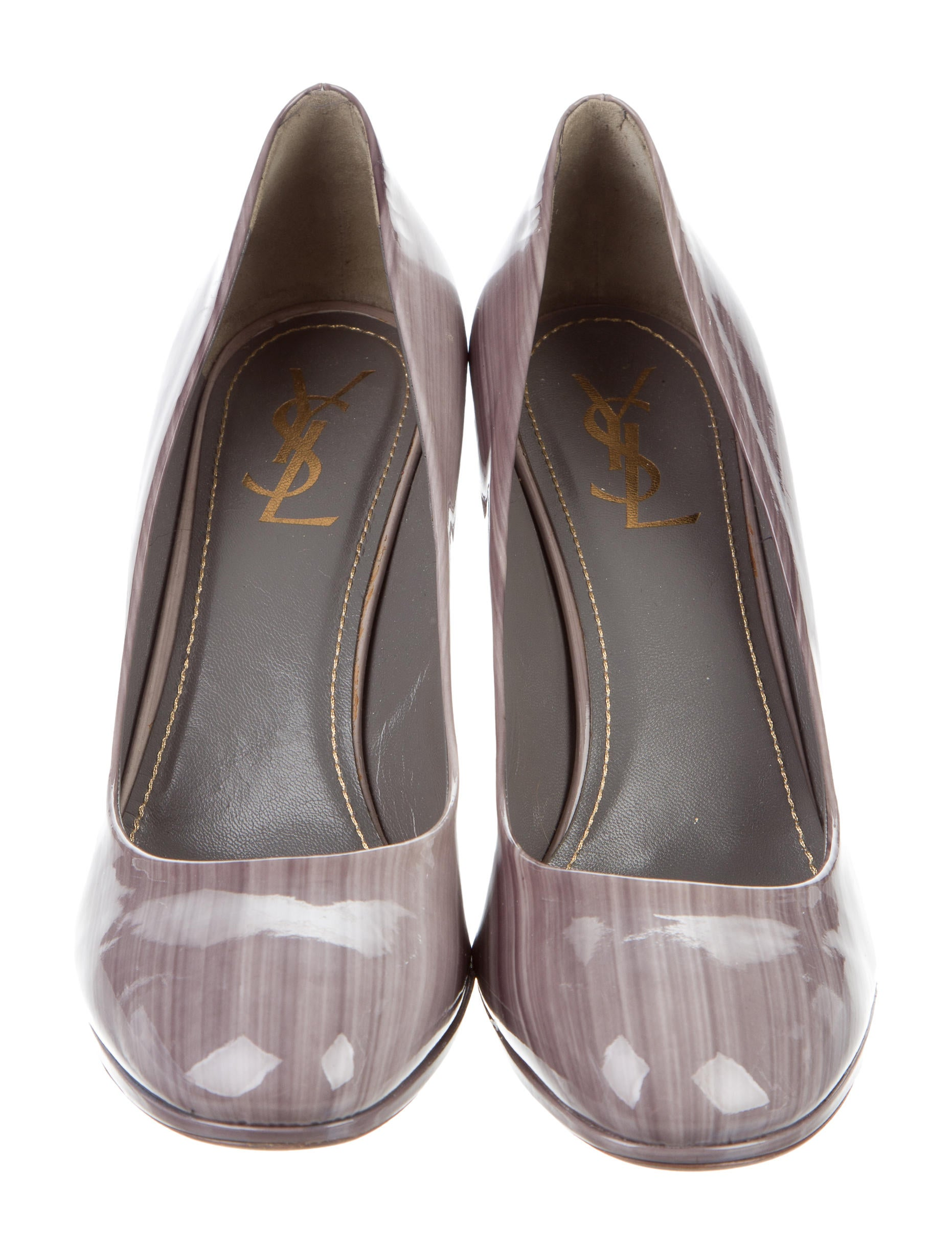 Yves Saint Laurent Striped Patent Leather Pumps Shoes  : YVE583883enlarged from www.therealreal.com size 1862 x 2456 jpeg 341kB