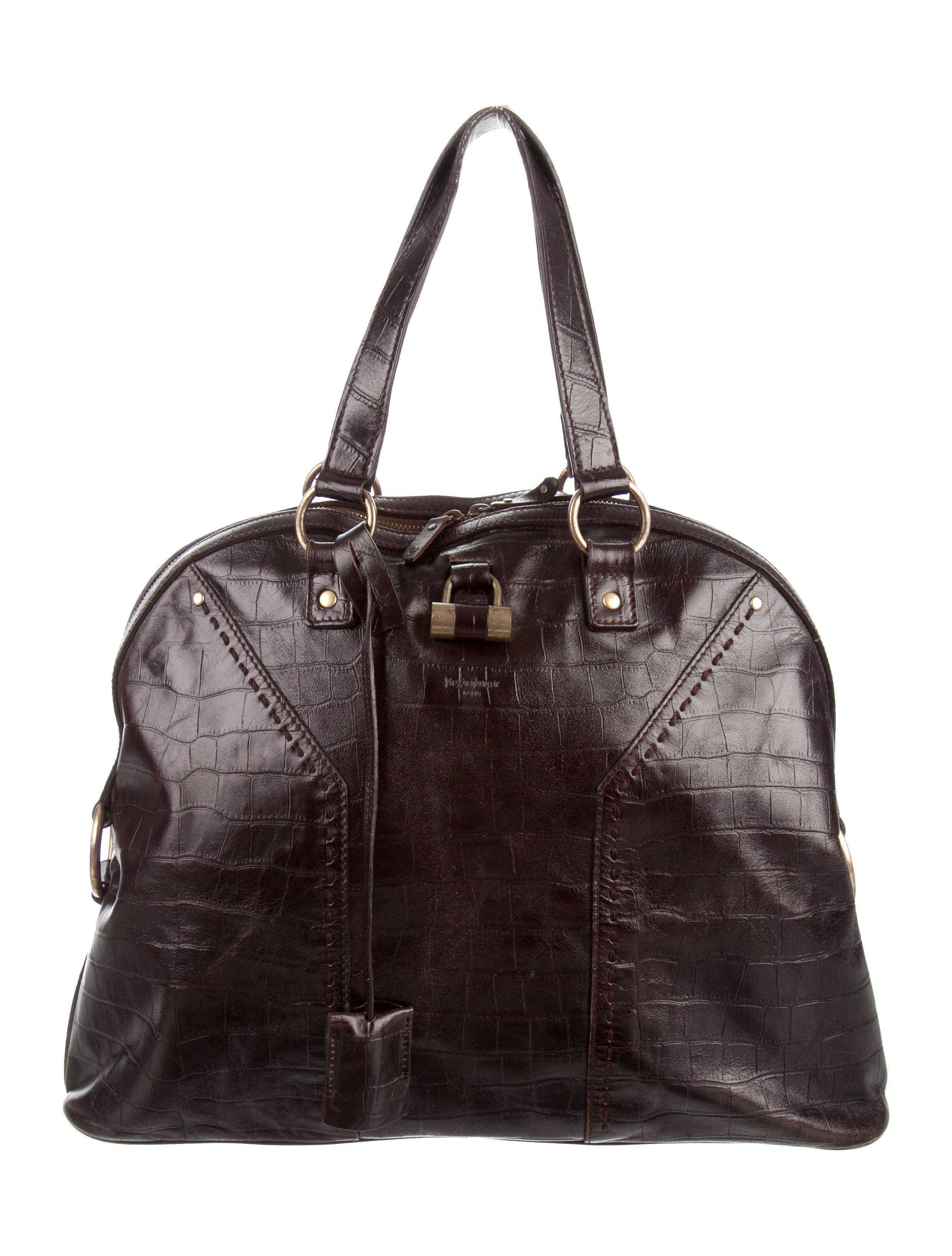 Yves Saint Laurent Embossed Muse Bag - Handbags