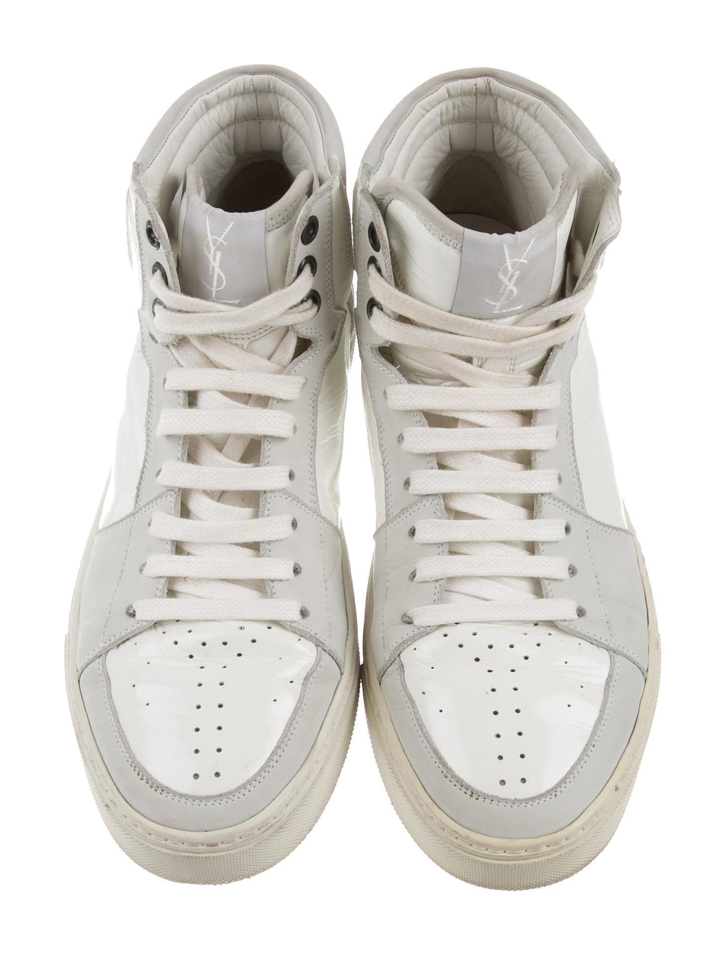 d3e922bcd64 YSL Malibu Hightop Sneaker in Black Patent Leather Sneakers