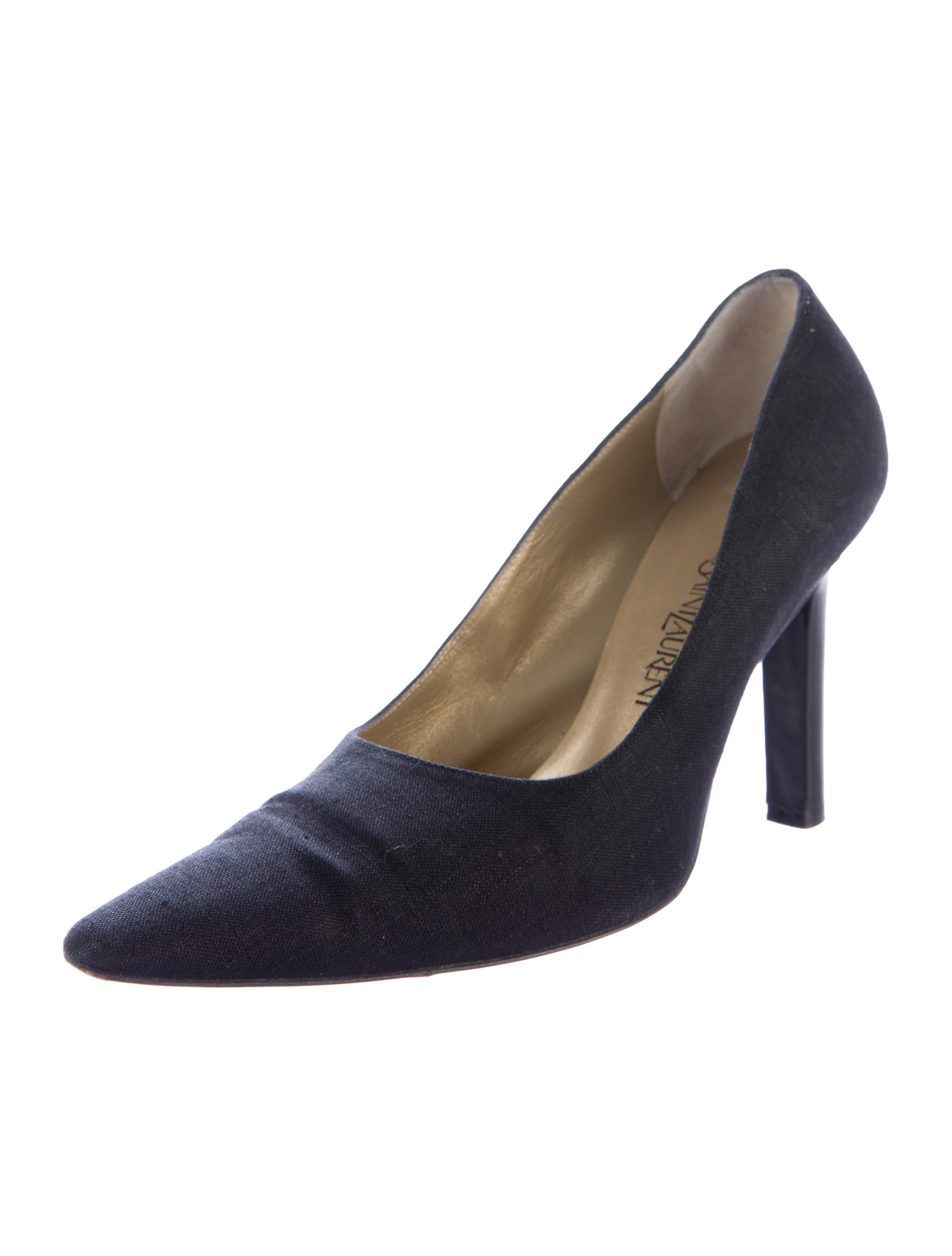 Yves Saint Laurent Pointed Toe Woven Pumps