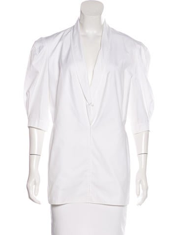 Yves Saint Laurent Short Sleeve Woven Top w/ Tags None