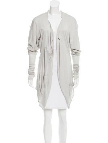 Yves Saint Laurent Open Front Knit Cardigan None