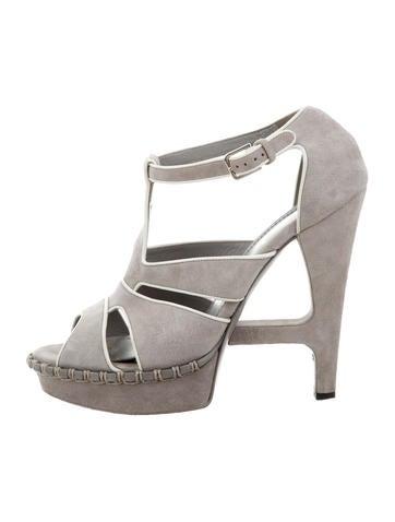 Yves Saint Laurent Platform Caged Sandals None