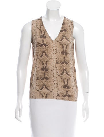 Yves Saint Laurent Silk-Accented Wool Top None
