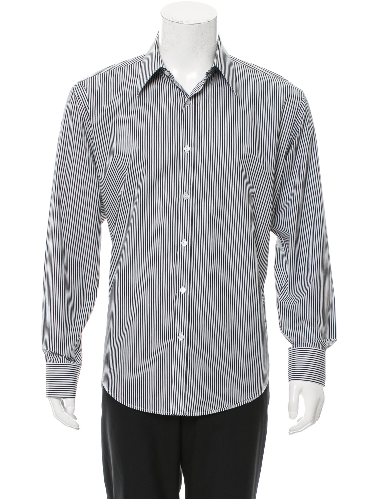 Yves Saint Laurent Striped Button Up Shirt Clothing