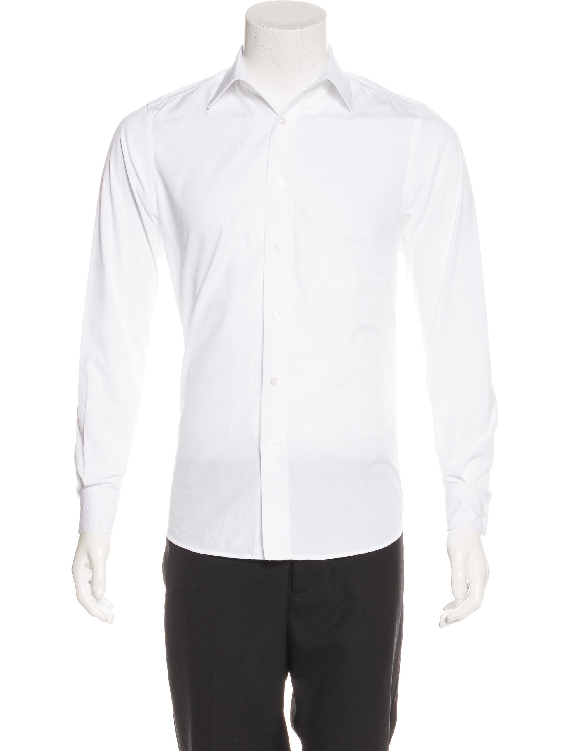 Yves Saint Laurent Woven Button Up Shirt Clothing