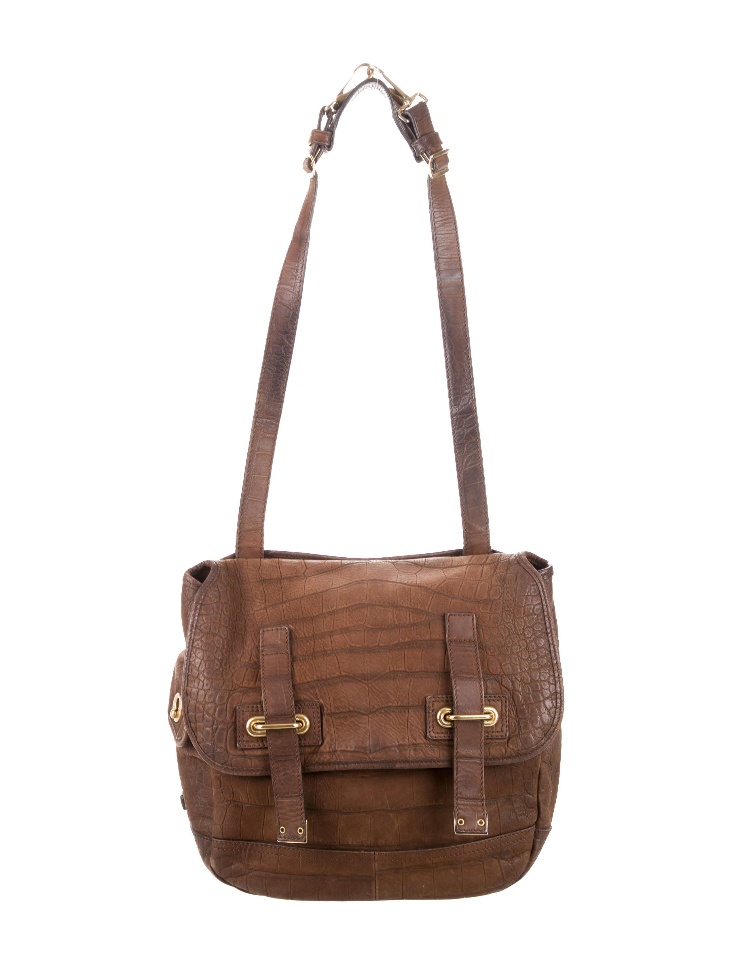 Yves Saint Laurent Embossed Besace Bag