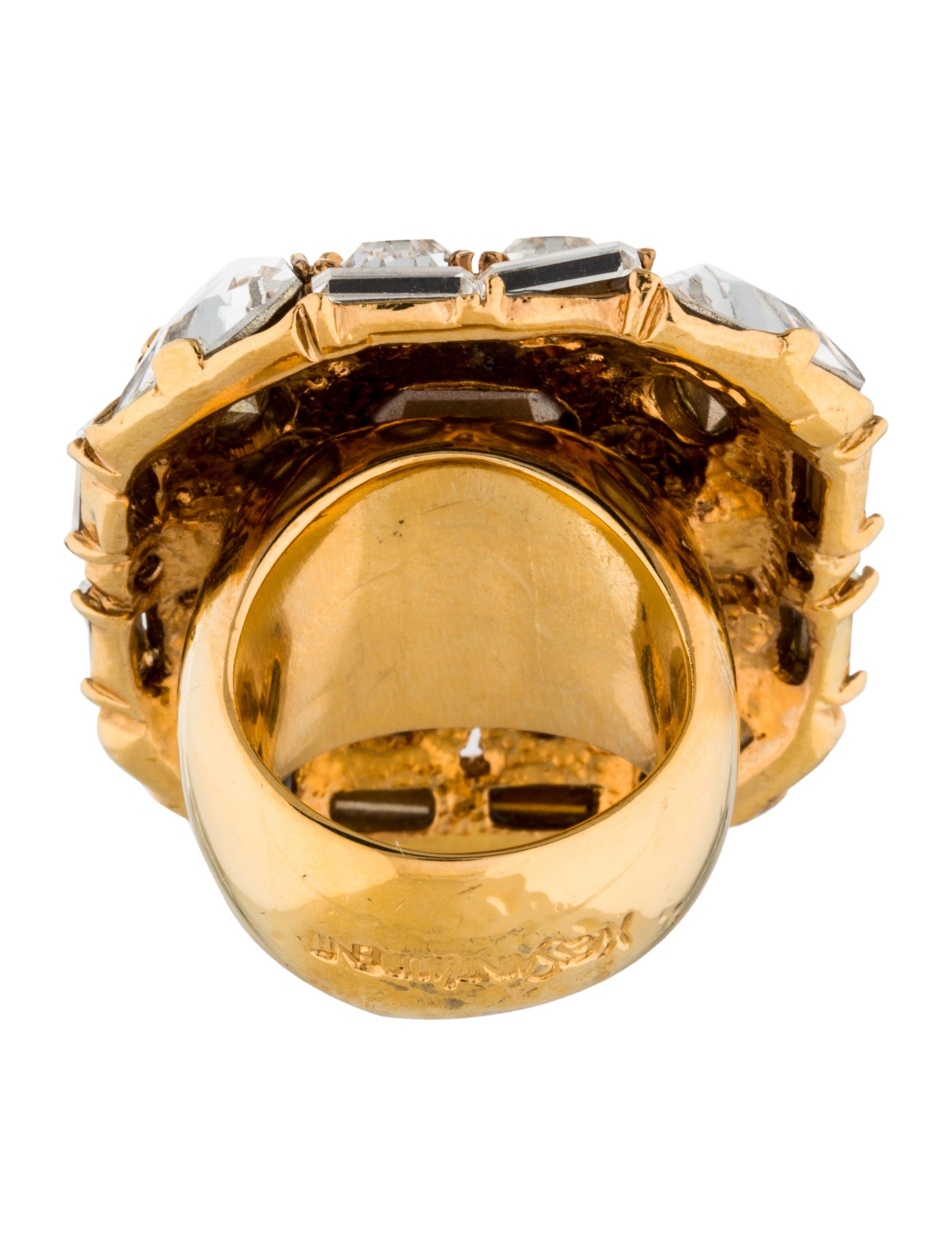 yves saint laurent crystal cocktail ring rings. Black Bedroom Furniture Sets. Home Design Ideas