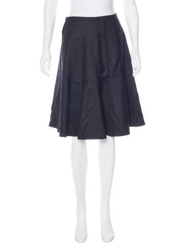 Yves Saint Laurent Knee-Length Wool Skirt None