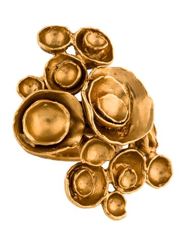 yves saint laurent arty floral ring rings yve62315. Black Bedroom Furniture Sets. Home Design Ideas