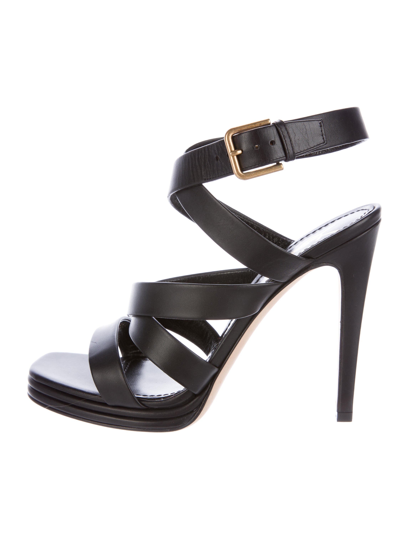 Yves Saint Laurent Leather Ankle-Strap Sandals buy cheap excellent sale get to buy sale prices 46wSVVZdS