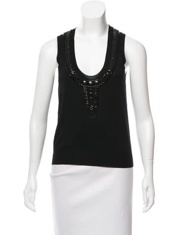 Yves Saint Laurent Wool Embellished Top None