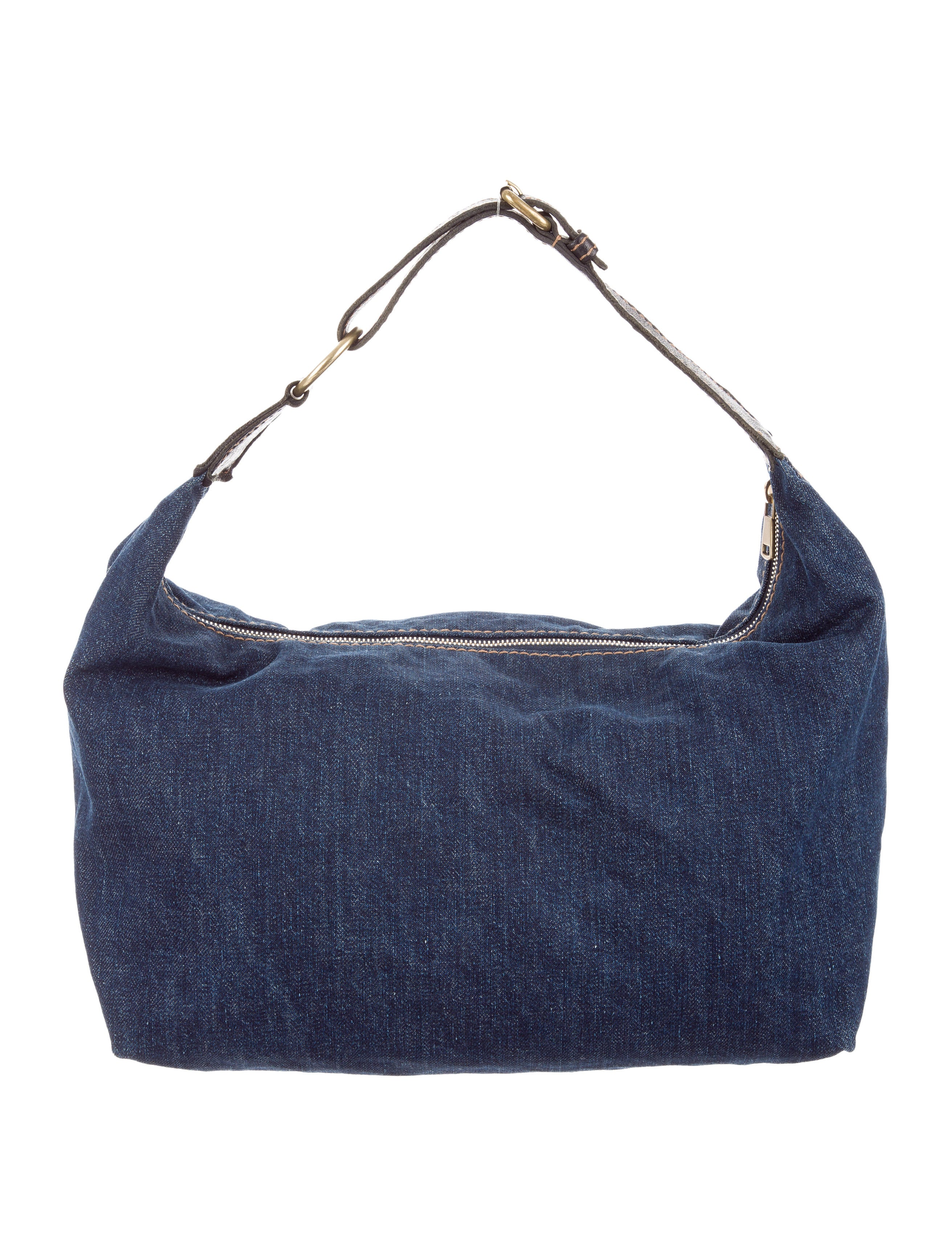 Yves Saint Laurent Denim Shoulder Bag Handbags