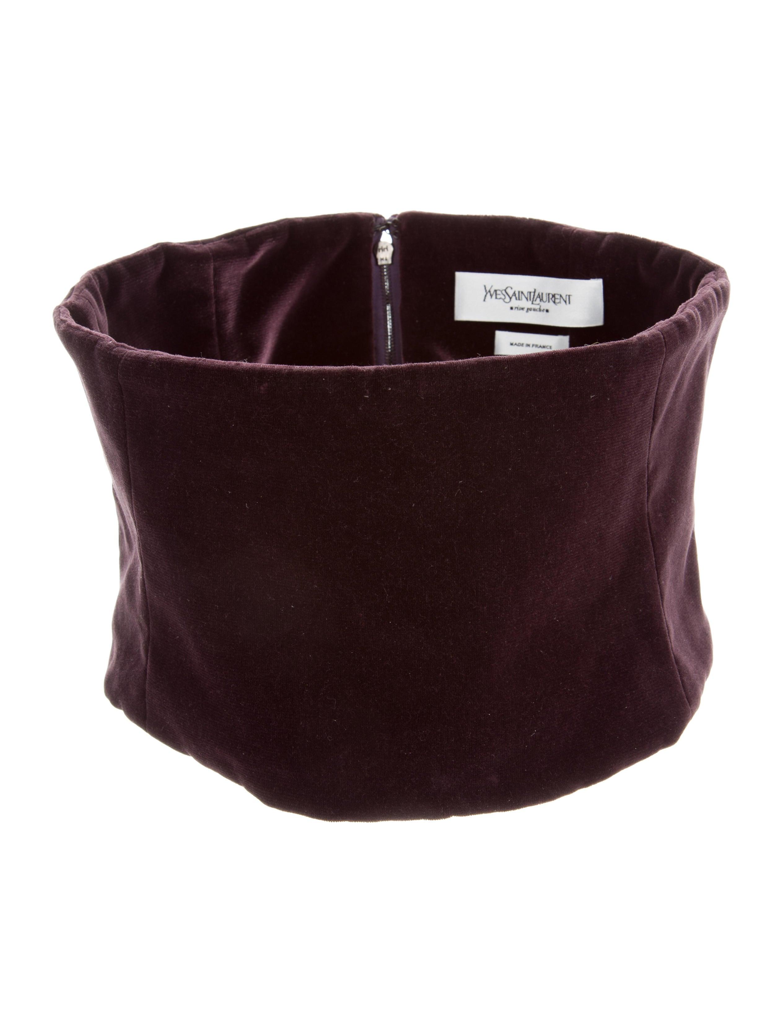 521b6b980c6f Gucci GG Marmont Matelasse Velvet Belt Bag (Varied Colors) Yves Saint  Laurent Velvet Corset Belt - Accessories - YVE62685   The RealReal