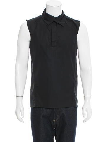 Yves Saint Laurent Sleeveless Popover Shirt None