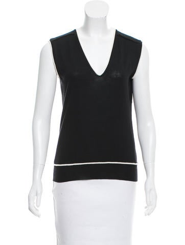 Yves Saint Laurent Knit Sleeveless Top None
