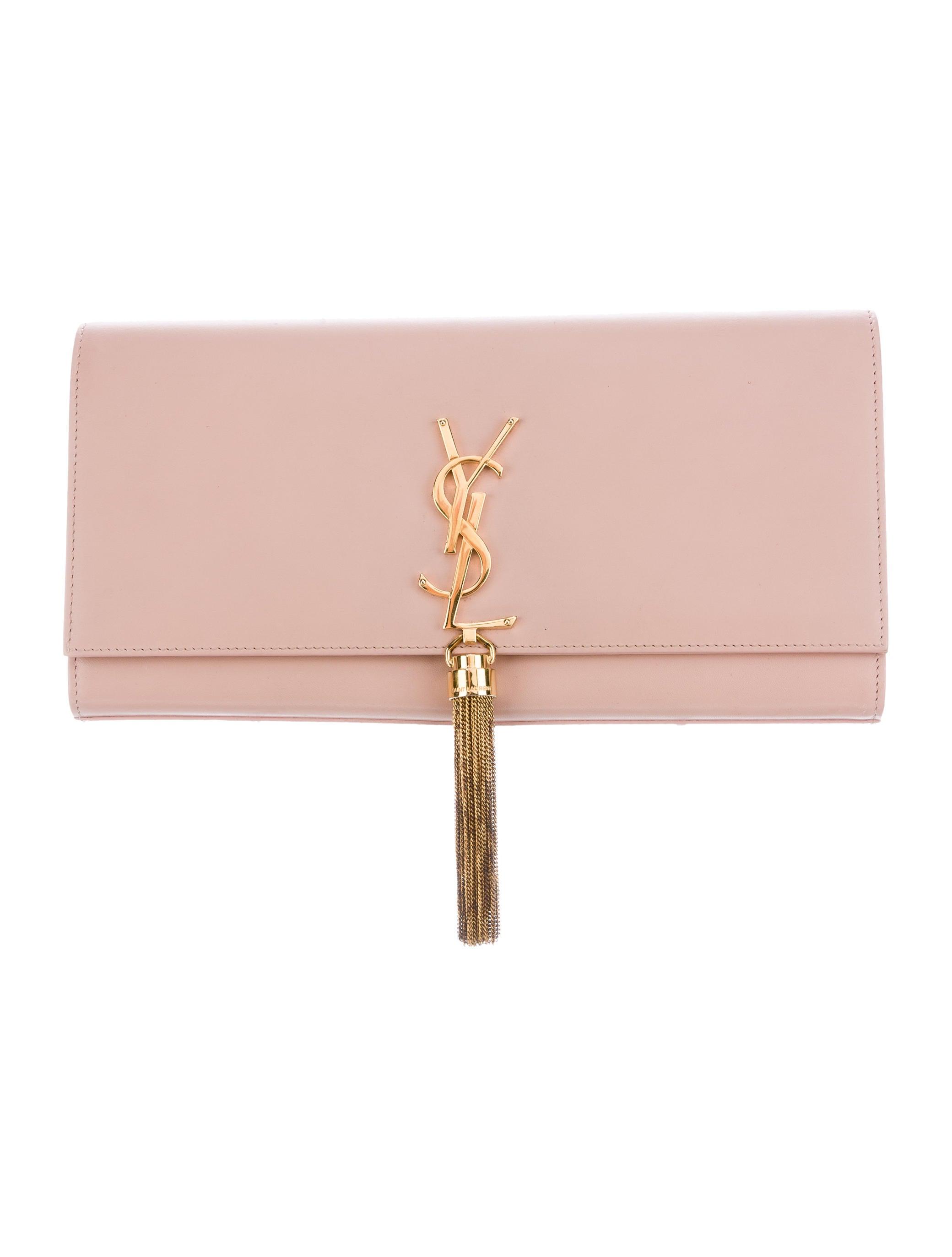 a10ff750fd8 Yves Saint Laurent Cassandre Tassel Clutch - Handbags - YVE63159 ...