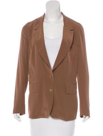 Yves Saint Laurent Silk Button-Up Blazer None
