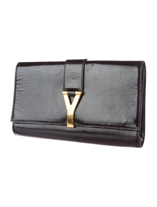 6689e0a9d18 Yves Saint Laurent Patent Leather Chyc Clutch - Handbags - YVE63332 ...