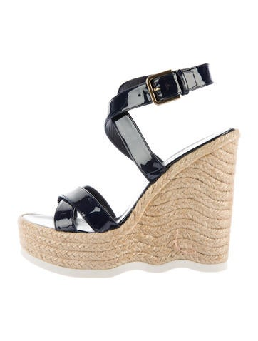 Yves Saint Laurent Espadrille Wedge Sandals None
