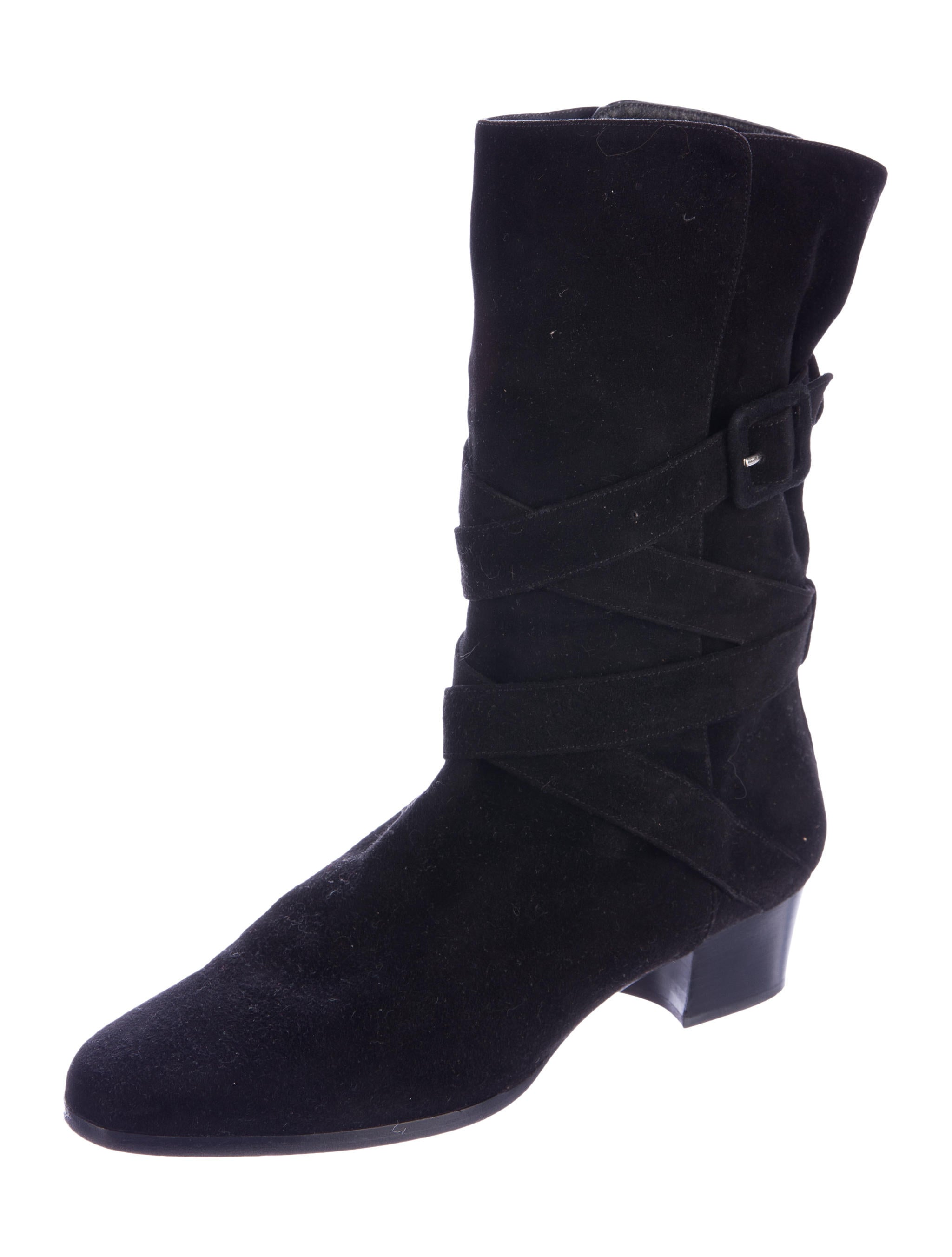 yves laurent suede ankle boots shoes yve63543