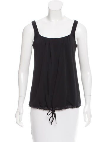 Yves Saint Laurent Sleeveless Knit Top None