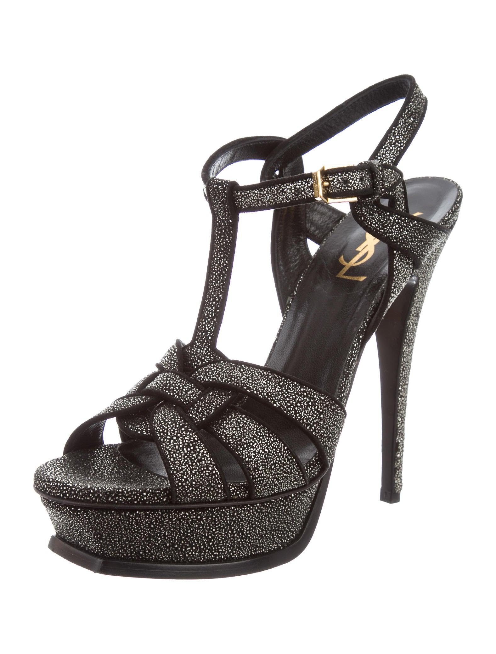 Saint Laurent Tribute Platform Sandals Shoes Yve63715