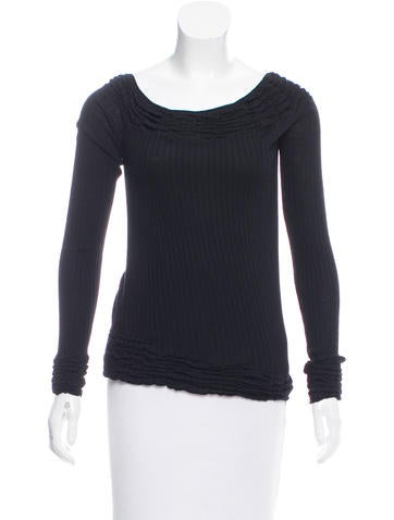 Yves Saint Laurent Long Sleeve Wool Top None
