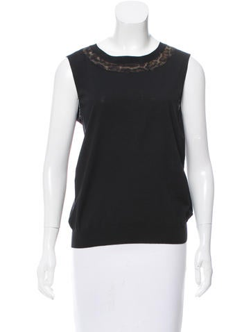 Yves Saint Laurent Wool Sleeveless Sweater w/ Tags None