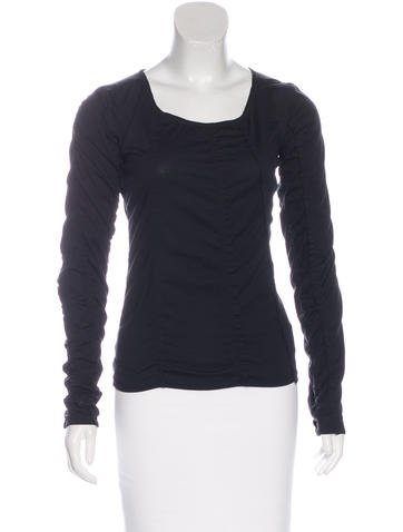 Yves Saint Laurent Ruched Long Sleeve Top None