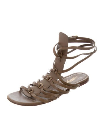7f9a9246f9c promo code for yves saint laurent leather gladiator sandals. leather  gladiator sandals. leather gladiator