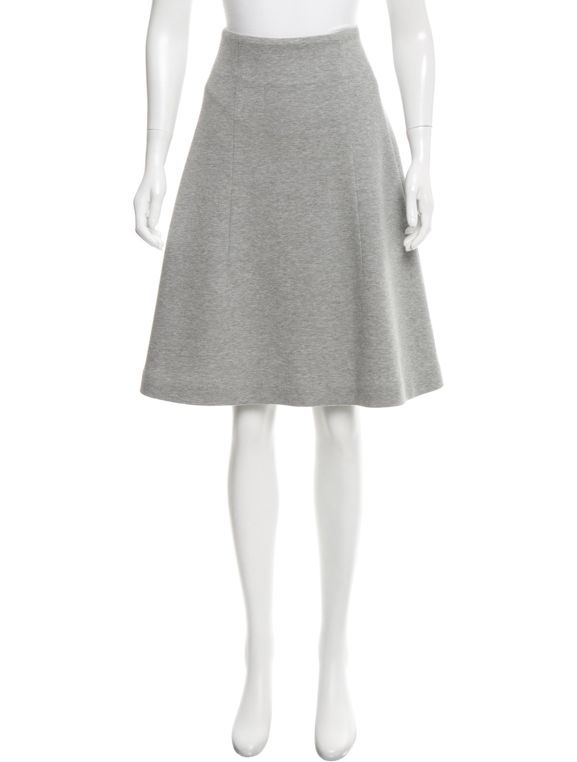 yves laurent knee length a line skirt clothing