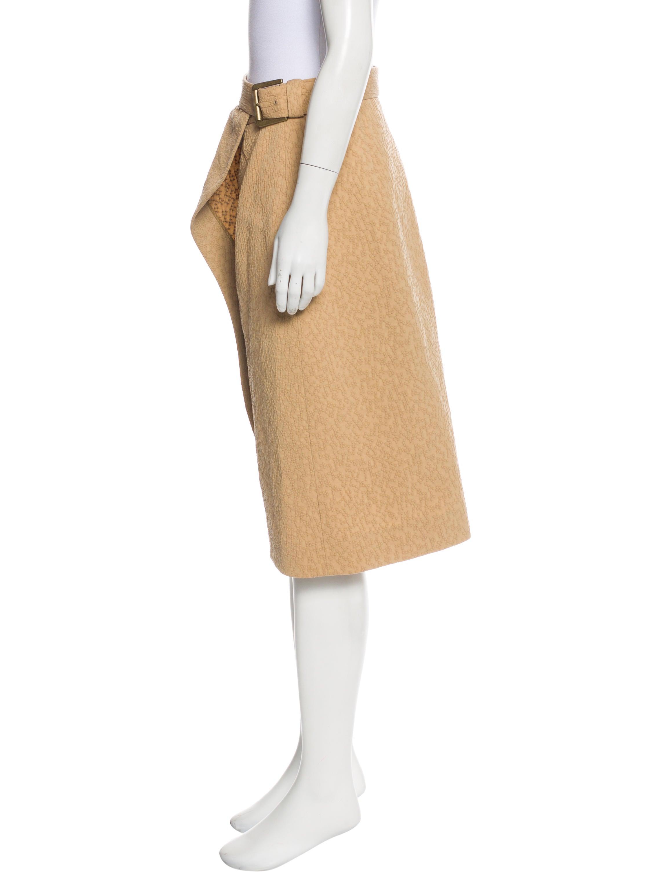 yves laurent patterned pencil skirt skirts
