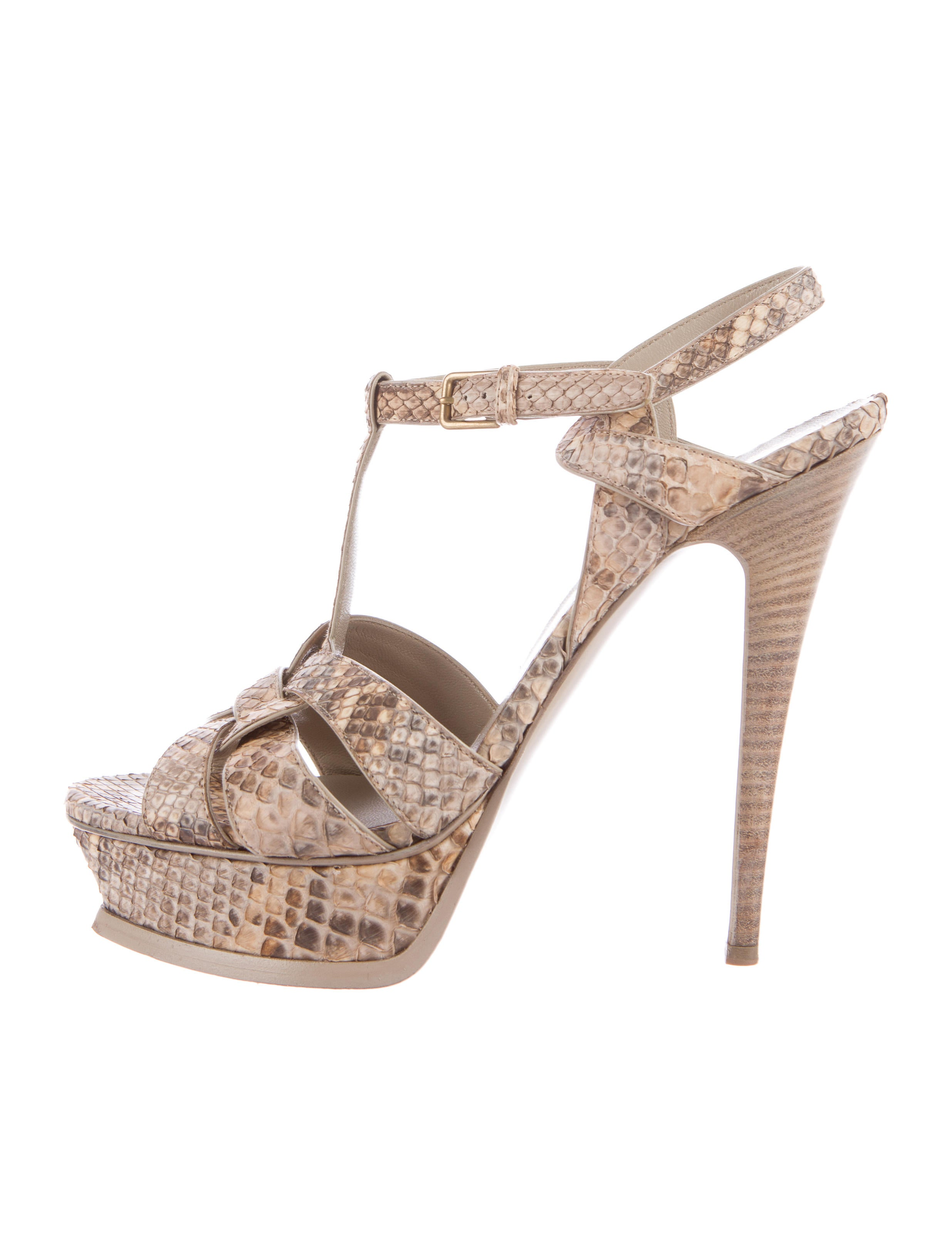 Yves Saint Laurent Tribute Snakeskin Platform Sandals sale pay with paypal sale discount discount price wyceU8