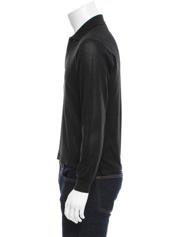 Yves saint laurent logo embroidered polo shirt clothing for Yves saint laurent logo shirt