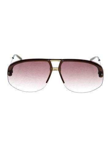 5ed75356fdb Yves Saint Laurent Round Gradient Sunglasses - Accessories - YVE64677