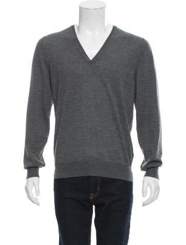 Yves Saint Laurent Virgin Wool V-Neck Sweater None